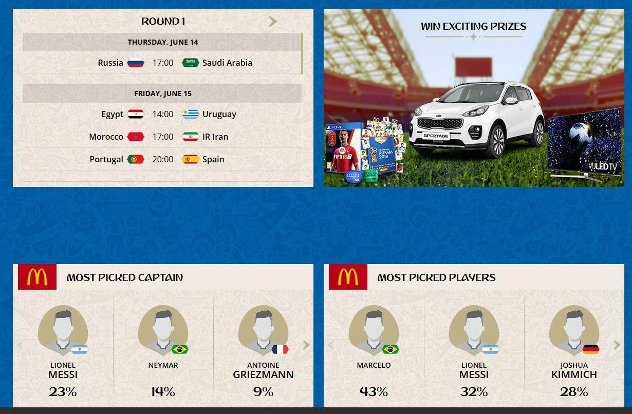 McDonald's FIFA World Cup™ Fantasy