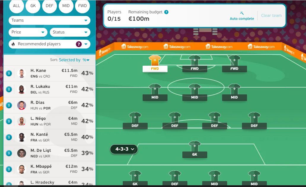 EURO 2020 FMRO Fantasy League